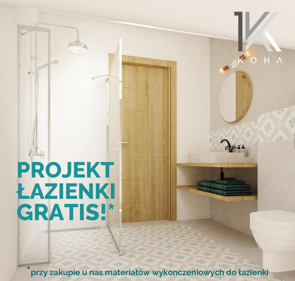 Projekt łazienki Gratis Koha Salon Wnętrz I Pracownia